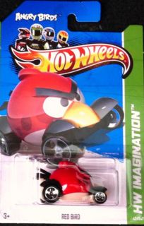 Hot Wheels 2012 Red Angry Bird See Photo