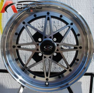 15x7 Rota SA Racing 4x100 40 Full Royal Black Fits Civic Yaris Miata