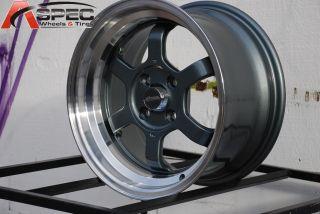 Chikara RS6 15x8 4x100 20 Gun Metal Machined Wheel Fit Scion XB XA BMW