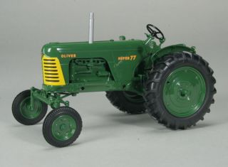 Oliver Super 77 Gas Wide Front Tractor Green Wheels Farm Toy Spec Cast
