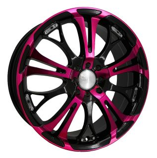 20 HD SPINOUT PINK WHEELS RIMS 5X4.5 / 114.3mm +40mm HONDA NISSAN