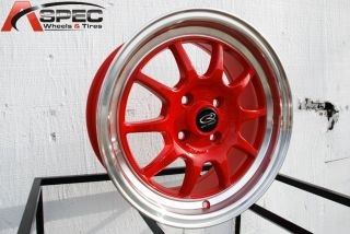 16x7 Rota GT3 4x100 40 Royal Red Wheel Fits Civic Integra CRX Yaris