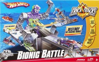 Hot Wheels Trick Tracks Bionic Battle New