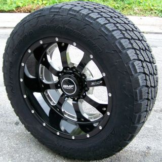 20 Black BMF Novakane Wheels 33 Nitto Terra Grappler Chevy GMC Dodge