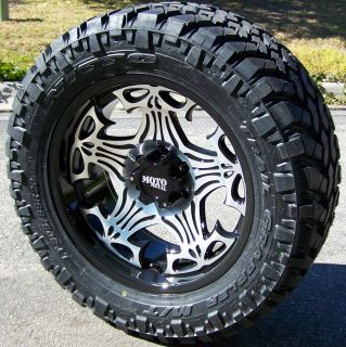 20 Black Moto Metal Skull Nitto 33x12 50x20 Trail Grappler Chevy
