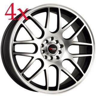 Drag Wheels Dr 34 18x8 5x110 5x112 ET35 Black Machined Face Rims