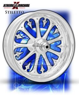 Machine Stiletto Chrome Motorcycle Wheels Street Road Glide Touring