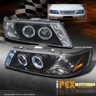 1995 1999 Nissan Sentra 200SX Halo LED Projector Headlights Black w