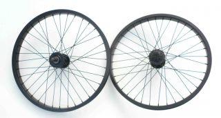 BMX 20 x1 75 Wheels Set F R Bike Rim w 9T Cog 14mm