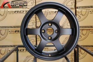 16x7 Rota Grid 4x100 40 Flat Black Wheel Fits Miata Fit XB Yaris Jetta