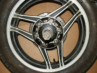 84 HONDA V65 SABRE VF1100 MOTORCYCLE REAR 17 ENKEI RIM WHEEL AXLE