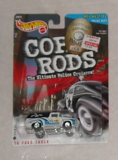 1999 Mattel Hot Wheels Cop Rods 56 Ford Truck FL