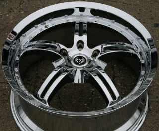 JOCK FACE 19 CHROME RIMS WHEELS FORD ESCAPE 02 up / 19 x 8.5 5H +45