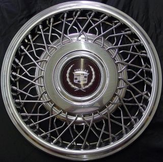 89 93 Cadillac 15 2054 Wire Wheel Cover Wire Hubcap GM Part 25558104
