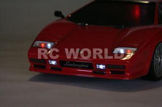 Tamiya 1 10 Lamborghini Countach RC Car LED Lights Ready to Run New