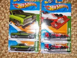2012 2013 Hot Wheels Regular Treasure Hunt Lot of 47
