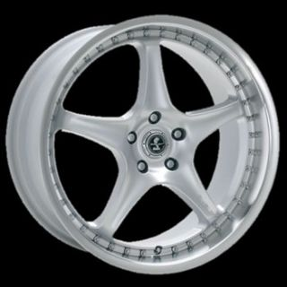 Silver American Racing Shelby Shelby Type S1 Wheels 5x4.5 +30 NISSAN