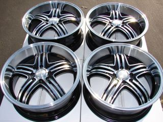 15 Black Wheels Rims 4 Lugs Integra Civic Corolla Yaris Prelude