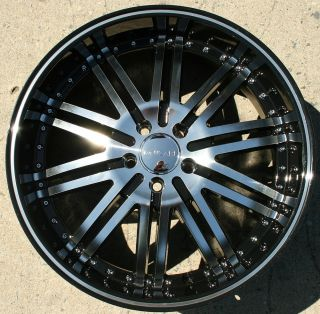 Menzari Z08 20 Black Rims Wheels Honda Accord 03 Up 20 x 8 5 5H 38