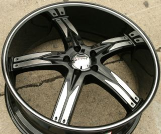 Devino Flawless 762 22 Black Rims Wheels Nissan Altima 02 Up 22 x 8 5
