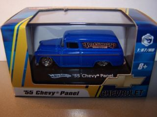 Hot Wheels 1 87 Scale Blue 55 Chevy Panel