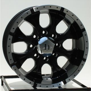 16 inch Black Wheels Rims Chevy GMC HD Dodge RAM 8 Lug