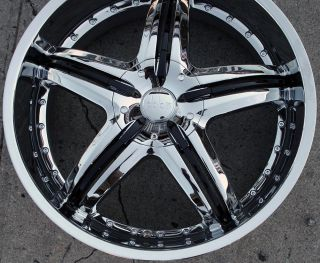 Dolce DC26 22 Chrome Rims Wheels Ford Fusion Flex Mustang 22 x 9 0 5H
