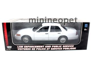 2001 Ford Crown Victoria 1 18 Special Service White