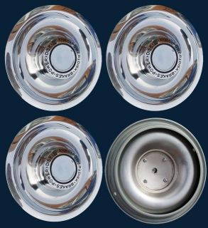 67 92 Rally Wheel Chrome Power Disk Brake Center Caps New Set 4