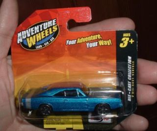 1969 Dodge Charger R/T Turquoise blue short card Adventure Wheels 164