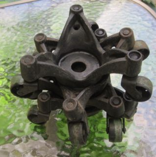 Set of 4 Vtg Cast Iron Moving Casters Stove Furniture Cabinet