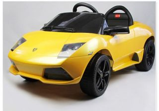 Yellow Mini Lamborghini Ride on Toy Battery Operated Car for Kids