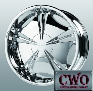 22 Chrome Verde Helix Wheels 5x115 5x127 5 Lug Charger 300 Challenger