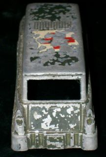 Vintage 50s Midgetoy Ambulance Toy Red Cross Army Truck Car 4