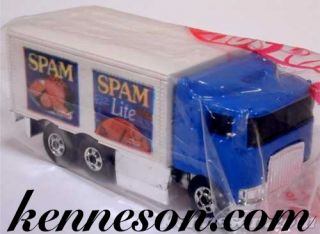 Hiway Hauler Spam Hormel Blue White Hot Wheels 1995 Bag