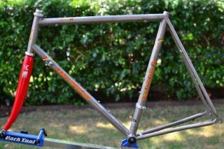 Eddy Merckx Titanium AX Road Bike Frame Set w Carbon Fork 58 x 57cm TI