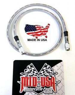 UNIVERSAL CLEAR COAT #3 CUSTOM STAINLESS 28 LONG BRAKE HOSE LINE FOR