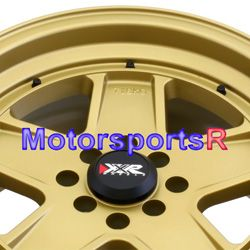 15 15x8 XXR 532 Flat Gold Wheels Rims Deep Dish 4x100 00 05 Toyota Mrs