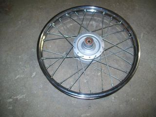 84 1984 Suzuki FA50 FA50E Moped 14 Chrome F Wheel Rim