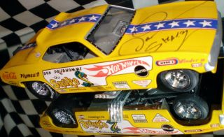 NHRA Don Prudhomme Funnycar Hot Wheels Legends Signed
