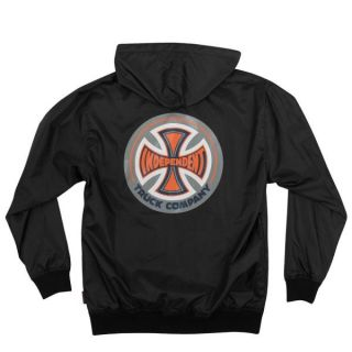 Independent Trucks 78 TC Hooded Windbreaker Jacket Black XL