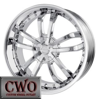 20 Chrome Veloche Verso Wheels Rims 5x110 5x115 5 Lug G5 G6 Cobalt