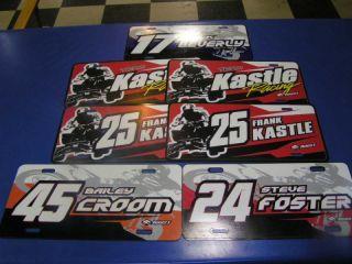 New Test Production License Plates Motocross ATV Quad Racing Free