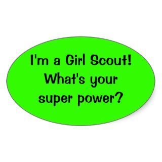 Girl Scout Super Power sticker