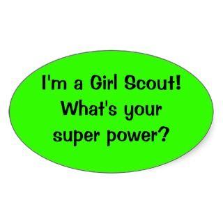 Girl Scout Super Power sticker