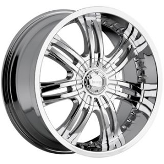 20x9 Chrome Incubus Overlord Wheels 5x5 5x135 Rims