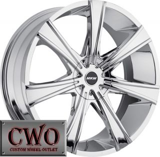 24 Chrome MKW M108 Wheels Rims 6x135 6x139 7 6 Lug Expedition Tahoe
