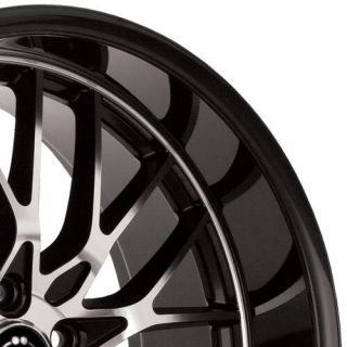 15x6 5 5x100 114 3 40 Gloss Black w Machine Face Wheels Rims