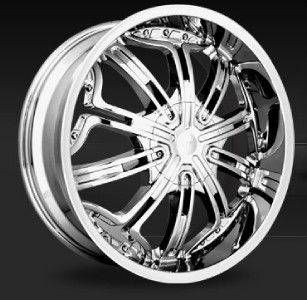 22 inch Strada Dieci Chrome Wheels Rims 5x112 40