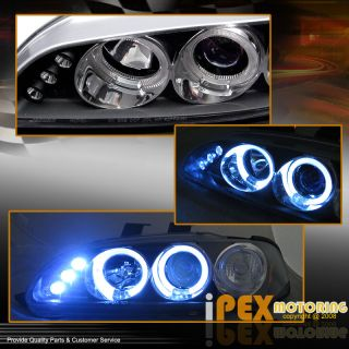 Devil Eye 92 95 Honda Civic SMD LED Projector Halo Head Lights Corner